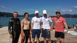 Träffade några andra svenskar när jag simmade, bland annat Johan Samuelsson och några från Kalmar.