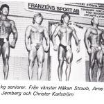 RÖRANDE TIDNINGEN HERCULES 1982-116,Trolleborgsmästerskape-82,Håkan Straub vann men se gamle Baltic lyftaren Arne Eliasson vis sidan om honom!!!