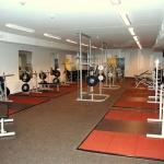 Baltiska Hallens styrkelokal idag där Malmö Idrotts Akademi har lokalen mellan gamla tynglyftarlokalen och lätta gymdelen