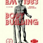 Klisterdekal EM i Bodybuilding 1983,skänkt av Arthur Markentorp
