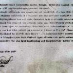 Bertil Ravald-Malte Ekelund ,text som hade fastnat i en plastficka.Själva brevet borta men det mesta syns och är en del i historien idag