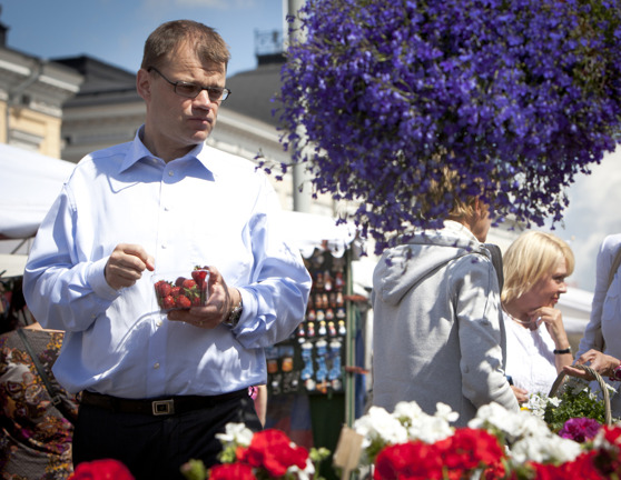 Centerns partiledare Juha Sipilä. Foto: Centerns bildbank.