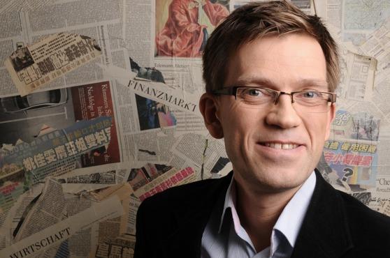 Foresin toimitusjohtaja Mattias Goldmann viihtyy ajatushautomossa. Kuva: Fores.