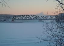 Lycksele.järnvägsbron.Silva Danielsson