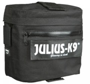 Julius-K9 Klövjeväska, svart, 2-pack, till Julius K-9 powersele