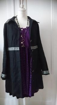 Elsa - Elsa kappa, linne, svart