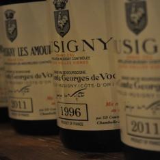 Ädel och sensuell proving av Bourgognestolthet