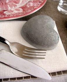 Bordsplacering på sten