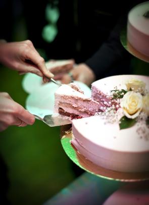 Bröllopstårta rosa