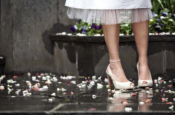Bröllopsskor naturvita