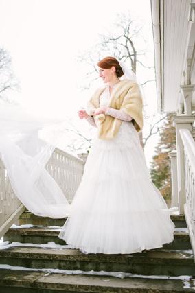 vinterbröllop brud