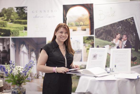 Katharina Brunat, grundare till EcoBride på mässan Bröllopsfeber 2014. Foto: Ingela Vågsund, www.vagsund.se