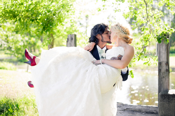 Linn & Mattias bröllop Fotograf: Malin Sydne