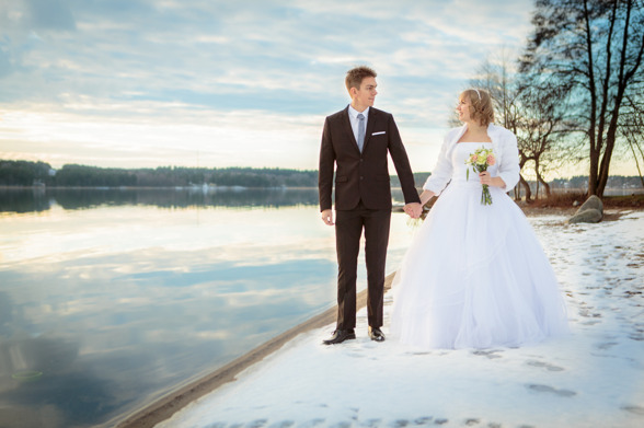 Vinterromantiskt bröllop