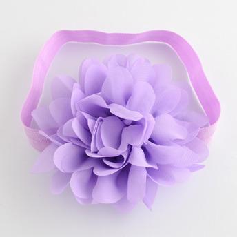 Pannband med stor blomma - Lila