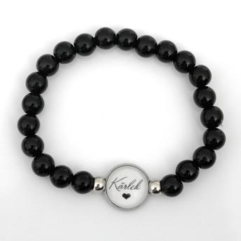 Kärlek - Svart armband
