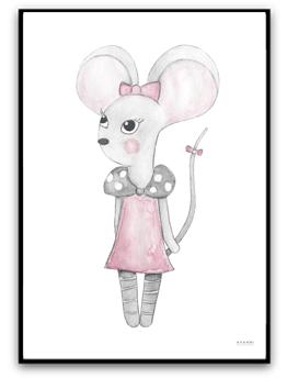 Lilly mouse - A4 matt fotopapper