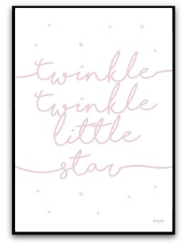 Twinkle twinkle little star - Dimrosa matt fotopapper A4