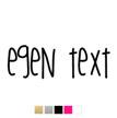 Wall stickers - Egen text - Typsnitt 1 (80cm)