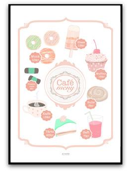 Café Meny - A4 Röd/orange matt fotopapper