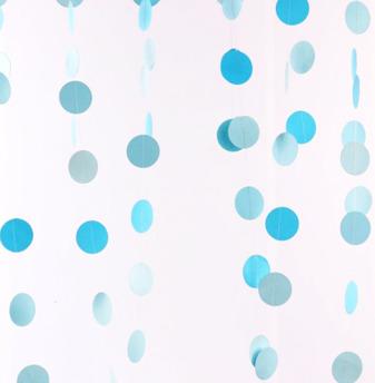 Girlang - Blåa cirklar -
