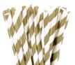 Sugrör - Guld/vit randig