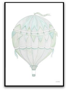 Green air balloon - A4 matt fotopapper