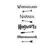 Wall stickers - Fairy Tale Road Sign - Vit