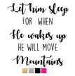 Wall stickers - Let him sleep - Svart