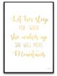 Poster - Let her sleep - Guld text A3 glansigt fotopapper