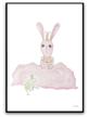 Bunny and prince frog - 61x91cm matt fotopapper