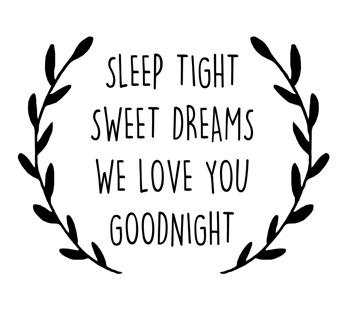 Wall stickers - Sleep tight - Svart