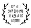 Wall stickers - Sov gott - Svart