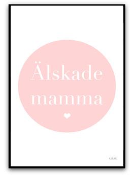 Älskade mamma - A4