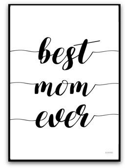 Best mom ever - A4 matt fotopapper