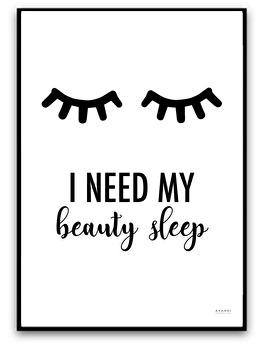 I need my beauty sleep - A4 matt fotopapper