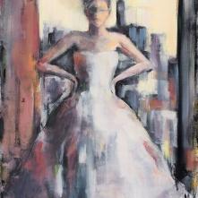 "©Karin Holmström ""Confident Lady"" shown at Louvren 2015 acrylic 60x80cm"