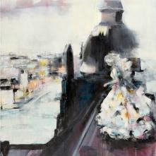 "©Karin Holmström ""Prinsessan på taket"" Acrylic, 80x100cm, availabel as Giclée Fine Art"
