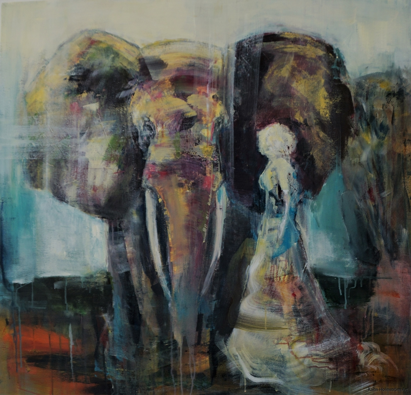 Walking with elephant2