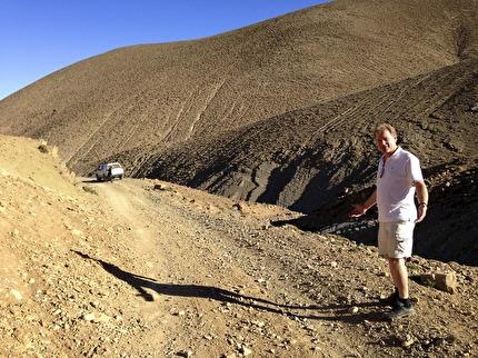 Dessa vägar i Atlasbergen lämpar sig endast för landrovers.