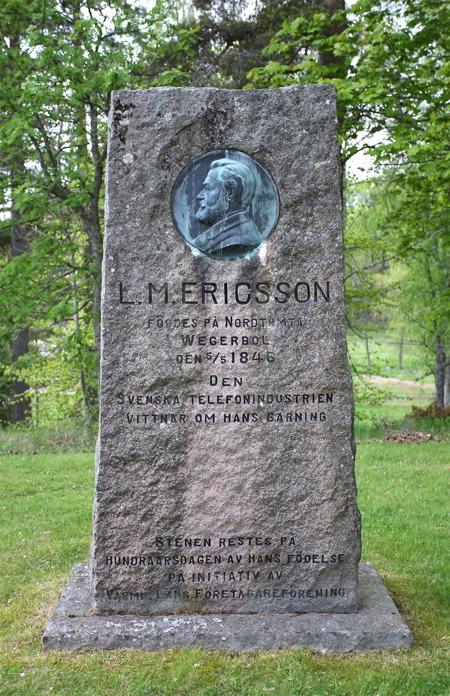 Lars Magnus Ericsson, den svenska telefonindustrins grundare, föddes på Nordtomta gård i Vegerbol Värmskog.