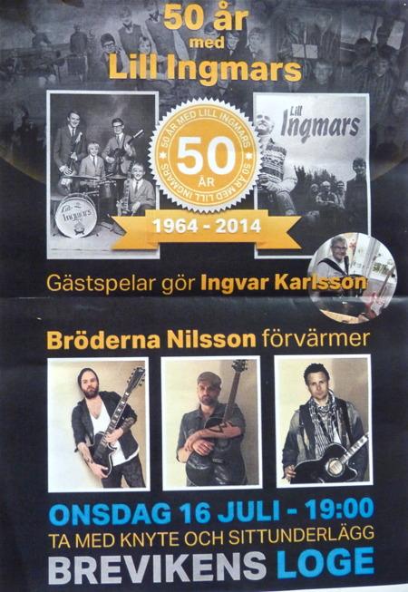Lill Ingmars - bygdens orkester fyllde 50 år 2014 . OBS ! Annonsen gällde 2014.