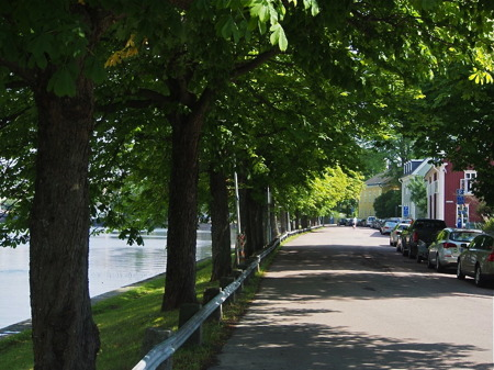 Älvgatan vid Klarälven - foto Peter Labraaten.