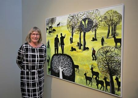 """28 mars 2015 - Konstnär Anne Nilsson hade vernissage med utställningen """"Vi och de andra ? Salt""""."""