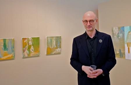 """28 mars 2015 - Konstnär Stefan Rydéen från Örebro hade vernissage med utställningen """"nära måleriska landskap""""."""
