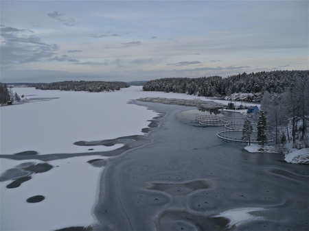 Sjön Foxen i riktning mot Töcksfors.