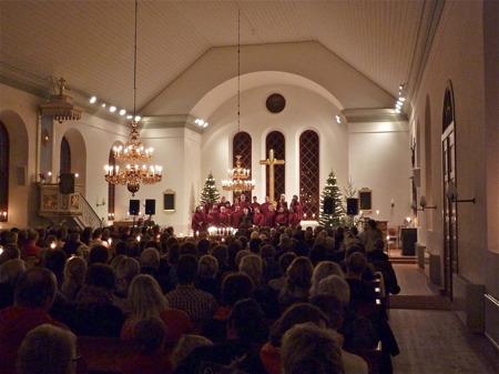 Julkonsert i Västra Fågelviks kyrka.