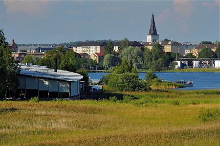 Mariebergsskogens Naturrum med våtmarker och strandängar.