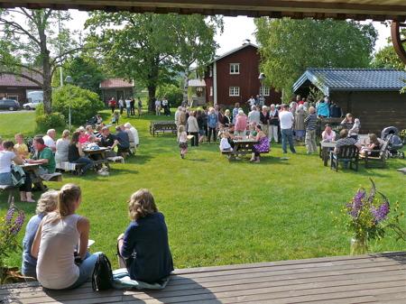 Nationaldagsfirande vid Hembygdsgården.
