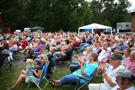 Publiken gillade konserten.